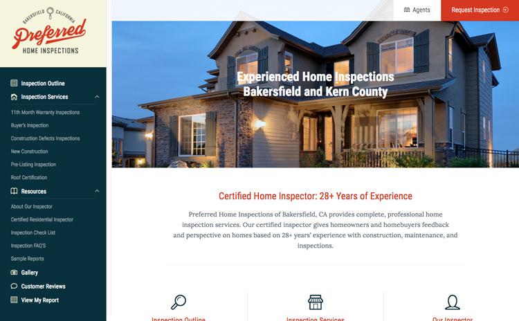 Preferred Home Inspection Premier Website Design Company